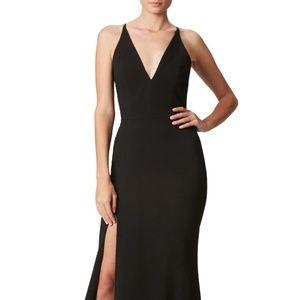 Dress the Population Iris Crepe Side Slit Gown